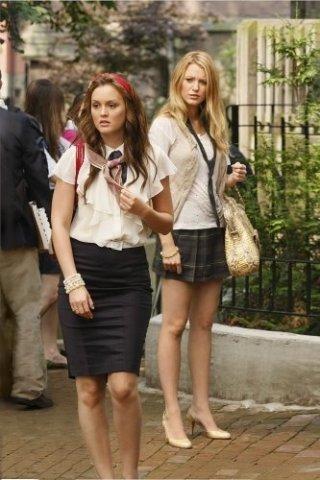 Leighton Meester e Blake Lively in una scena dell'episodio The Ex-Files di Gossip Girl
