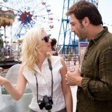 Scarlett Johansson e Javier Bardem in un'immagine del film Vicky Cristina Barcelona
