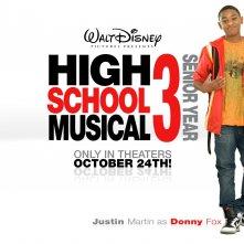 Un wallpaper di High School Musical 3 con Justin Martin