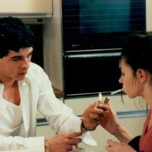 Alessandro Gassman con Beatrice Dalle in una sequenza del film Toni