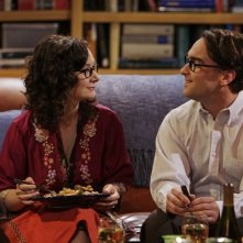 Leonard (Johnny Galecki) e Leslie (Sara Gilbert) in una scena dell'episodio The Codpiece Topology (The Big Bang Theory, stagione 2)