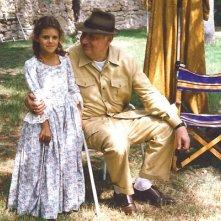 Pamela Saino con l'indimenticabile Philippe Noiret sul set del film Marianna Ucrìa