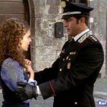 Pamela Saino e Simone Montedoro in una scena di Don Matteo 6