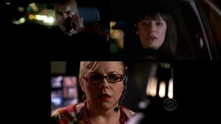 Kirsten Vangsness, Shemar Moore e Paget Brewster in un momento dell'episodio 'Mayhem' della serie Criminal Minds