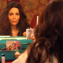 Sabrina Ferilli in una sequenza della fiction Anna e i cinque