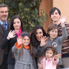 Sabrina Ferilli, Pierre Cosso e Matteo Urzia in un'immagine promo della fiction Anna e i cinque