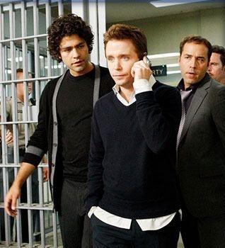 Adrian Grenier, Kevin Connolly e Jeremy Piven in una scena dell'episodio 'Fire Sale' della quinta stagione di Entourage