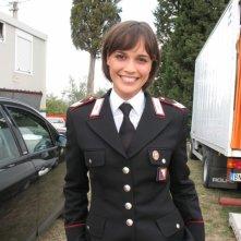 Roberta Giarrusso sul set di Carabinieri 7