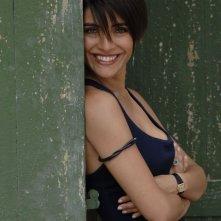 Caterina Murino sul set del film The Garden of Eden
