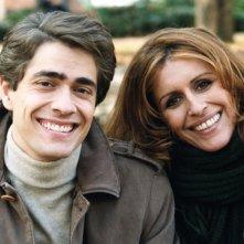 Giovanni Scifoni insieme a Caterina Vertova sul set di Mio Figlio
