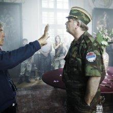 Il regista Giacomo Battiato sul set del film Resolution 819