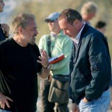 Il regista Uli Edel e il produttore Bernd Eichinger sul set del film La banda Baader Meinhof