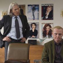 Jeff Bridges e Simon Pegg in una scena del film How to Lose Friends and Alienate People