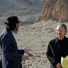 Larry Charles e Bill Maher sul set del documentario Religulous