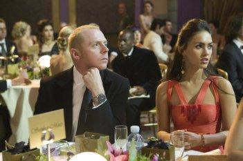 Simon Pegg e Megan Fox in un'immagine del film How to Lose Friends and Alienate People