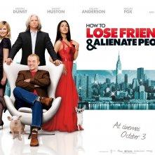 Un wallpaper del film How to Lose Friends and Alienate People con Kirsten Dunst, Jeff Bridges, Megan Fox e Simon Pegg
