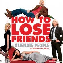 Un wallpaper del film How to Lose Friends and Alienate People con Kirsten Dunst, Megan Fox, Jeff Bridges e Simon Pegg