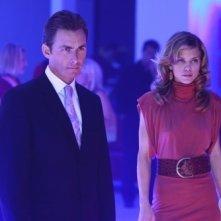 AnnaLynne McCord e James Patrick Stuart in una scena dell'episodio Model Behavior di 90210