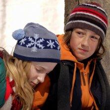 Jacob Switzer con Elena Hudgins Lyle in una scena del film Only
