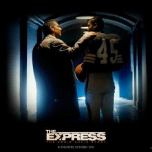 Un wallpaper del film The Express con Dennis Quaid e Rob Brown
