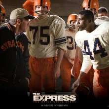 Wallpaper del film The Express con Dennis Quaid e Rob Brown e dedicato al mondo del football