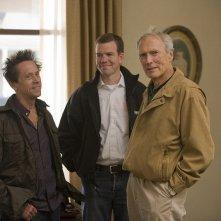 Brian Grazer e Clint Eastwood sul set del film Changeling