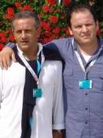 Franco di Silvio (sulla destra) insieme al produttore Angelo Arena