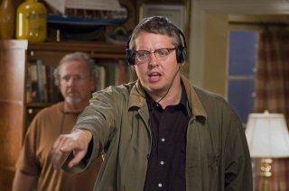 Il regista Adam McKay sul set del film Fratellastri a 40 anni
