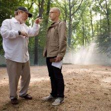 Il regista Ridley Scott e il produttore Donald De Line sul set del film Nessuna verità