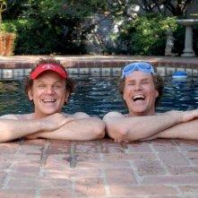 John C. Reilly e WIll Ferrell sul set del film Fratellastri a 40 anni