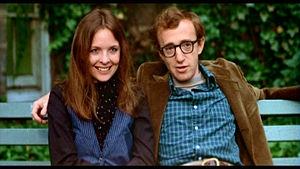 Woody Allen e Diane Keaton in una scena del film Io e Annie