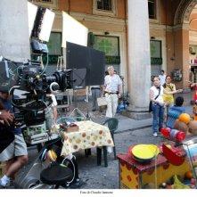 Sul set del film Scontro di civiltà per un ascensore a Piazza Vittorio