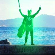 Massimo Bosso nei panni di Capitan Basilico - Un supereroe al salvataggio della Liguria