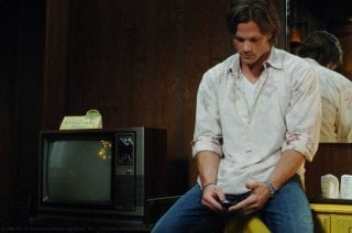 Jared Padalecki  in una scena dell'episodio Metamorphosis di Supernatural