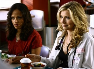 Carla ed Elliot (Judy Reyes e Sarah Chalke) in un'immagine del serial Scrubs