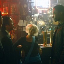 Masi Oka, James Kyson Lee, Jamie Hector e Brea Grant nell'episodio Angels And Monsters di Heroes