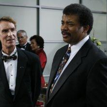 Neil DeGrasse Tyson e Bill Nye nell'episodio 'Brain Storm' della quinta stagione di Stargate Atlantis