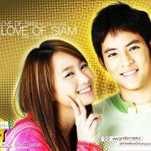 Witwisit Hirunwongkul  e Laila Boonyasak in un wallpaper del film Love of Siam