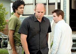 Adrian Grenier, Domenick Lombardozzi e Kevin Connolly in una scena dell'episodio 'Redomption' della quinta stagione di Entourage
