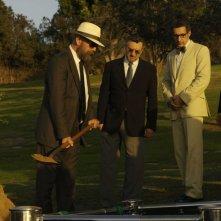 Bruce Willis, Robert De Niro, John Turturro e Stanley Tucci in una scena del film What Just Happened?