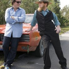 Clark Duke e Seth Green in una scena del film Sex Drive