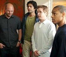 Domenick Lombardozzi, Adrian Grenier, Kevin Connolly e Bow Wow in una scena dell'episodio 'Redomption' della quinta stagione di Entourage