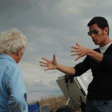 Il regista Matteo Tondini e il direttore alla fotografia Fabio Cianchetti sul set del corto Il mio ultimo giorno di guerra