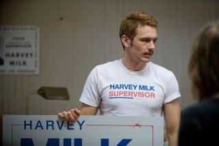 James Franco in un'immagine del film Milk