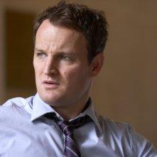 Jason Clarke nel ruolo di Tommy Caffee nell'episodio 'Let Rome in Tiber Melt' della terza stagione di Brotherhood