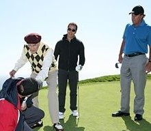 Jeremy Piven, Phil Mickelson e Martin Landau in una scena dell'episodio 'Redomption' della quinta stagione di Entourage