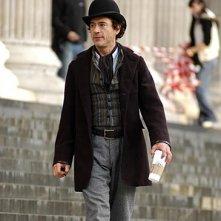 Robert Downey jr. sul set di Sherlock Holmes