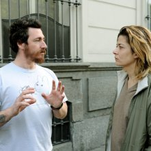 Alex Infascelli con Sandra Ceccarelli sul set di Chiara, primo episodio della serie Donne Assassine