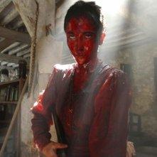 Karina Testa in una scena del film Frontière(s)