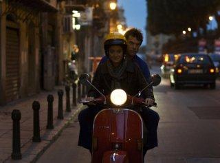 Giovanna Mezzogiorno e Campino in una scena del film Palermo Shooting diretto da Wim Wenders